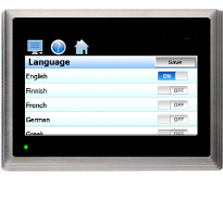EZT-430i Language Screen