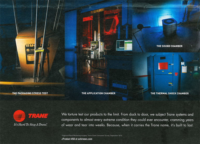 Trane features CSZ Test Chamber in Advertisement
